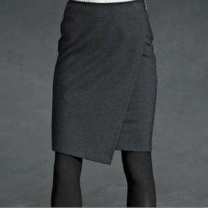 Cabi Charcoal Gray Asymmetrical Skirt - 12